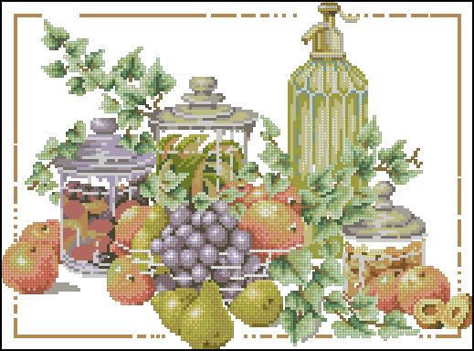 Схемы овощи фрукты ягодки вышивка гладью